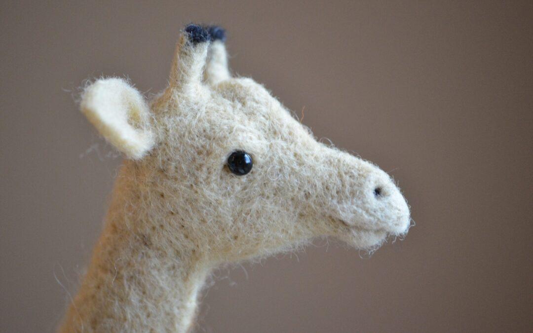 Needle Felting my first Giraffe