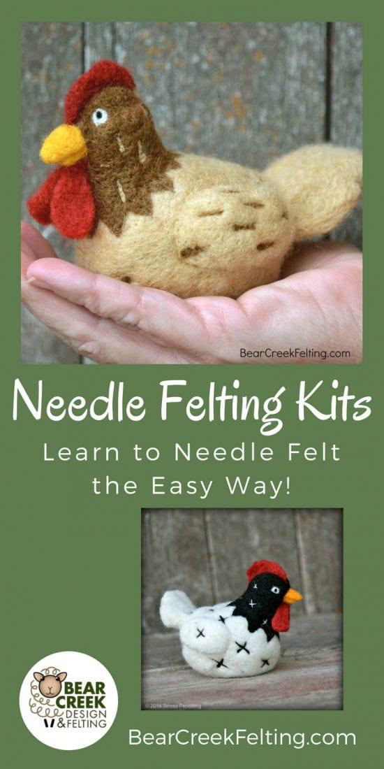 Chicken needle felting kit