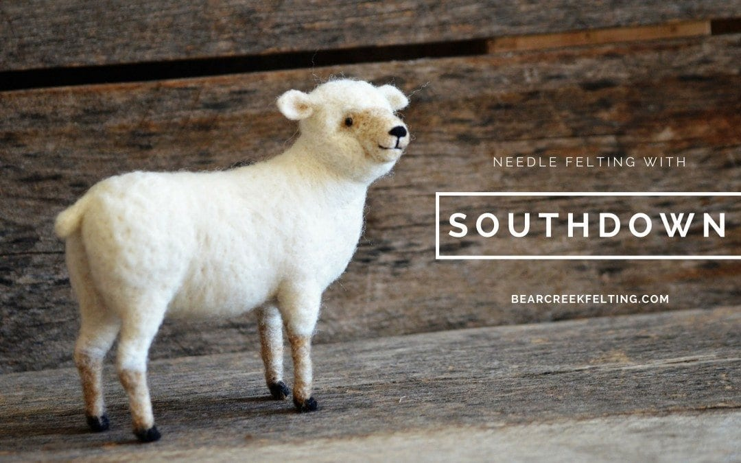 Needle Felting with Southdown Wool