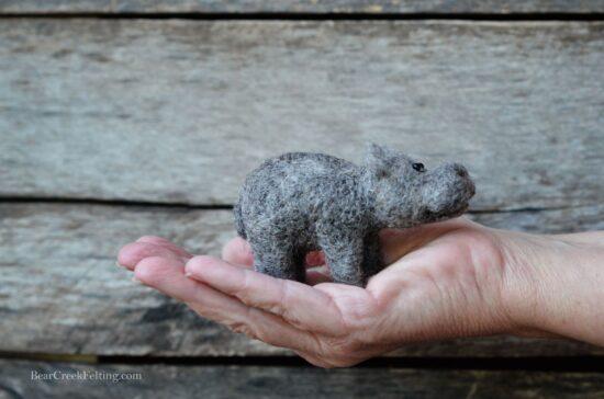 Hippo needle felting kit