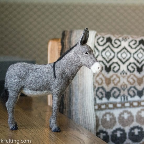 Donkey Needle Felting How to Make a Donkey