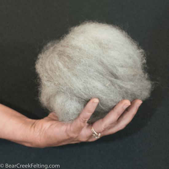 light gray wool