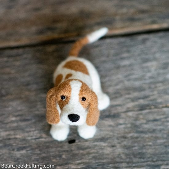 Learn how to make a Basset Hound just like this in the Bear Creek Needle Felting Academy