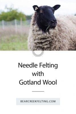 Needle Felting with Gotland Wool