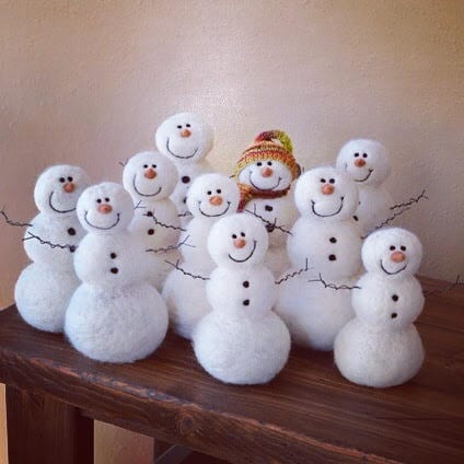 Snowman Needle Felting Class Nome North Dakota